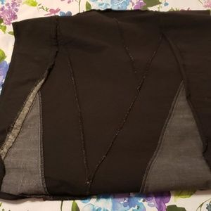 Rafaella Skirts - Rafaella Black Skirt. Faux leather patches. Sz 14